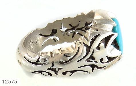 انگشتر فیروزه نیشابوری رکاب دست ساز - عکس 3