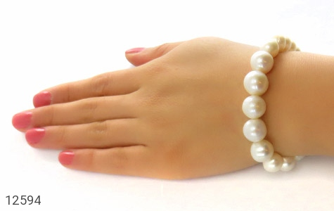 دستبند مروارید پرورشی جذاب زنانه - عکس 5