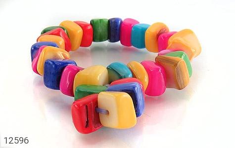 دستبند صدف رنگارنگ خوش تراش زنانه - عکس 3