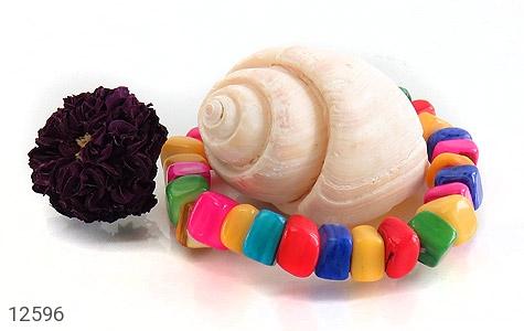 دستبند صدف رنگارنگ خوش تراش زنانه - تصویر 4