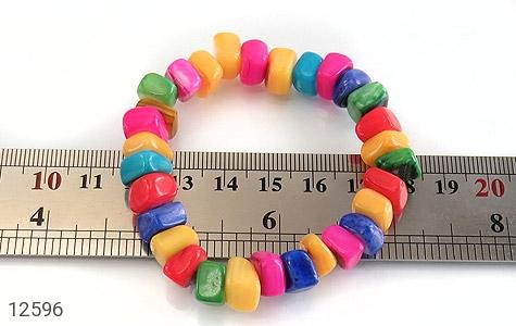دستبند صدف رنگارنگ خوش تراش زنانه - عکس 5