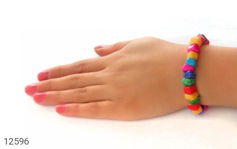 دستبند صدف رنگارنگ خوش تراش زنانه - تصویر 6