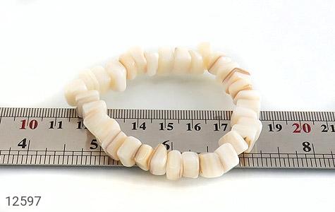 دستبند صدف سفید و خوش تراش زنانه - عکس 5