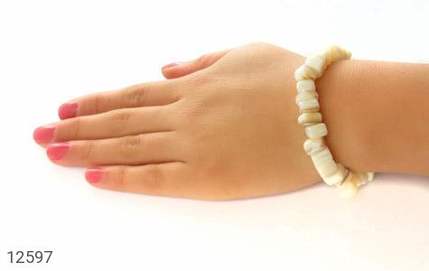 دستبند صدف سفید و خوش تراش زنانه - تصویر 6