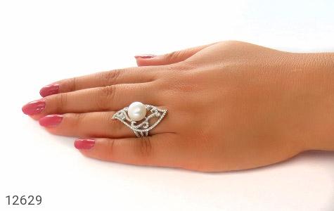 انگشتر مروارید درشت طرح خاتون زنانه - عکس 7