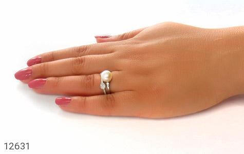 انگشتر مروارید درشت رکاب فری سایز طرح آترینا زنانه - عکس 7