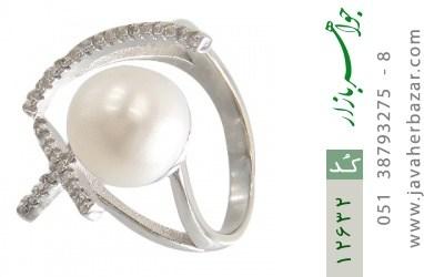 انگشتر مروارید درشت طرح چشمک و لبخند زنانه - کد 12632