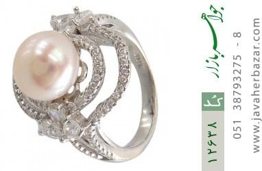 انگشتر مروارید درشت طرح ملکه زنانه - کد 12638