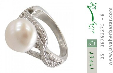 انگشتر مروارید درشت طرح پارمیس زنانه - کد 12642