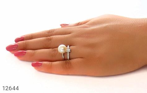 انگشتر مروارید درشت طرح ستاره ی ناز زنانه - عکس 7
