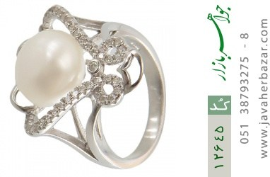 انگشتر مروارید درشت طرح افشان زنانه - کد 12645