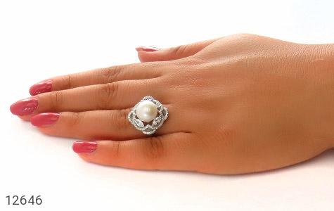 انگشتر مروارید درشت طرح ملکه زنانه - عکس 7