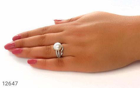 انگشتر مروارید شیک طرح افروز زنانه - عکس 7