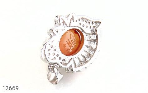 مدال عقیق یمن حکاکی شرف الشمس - عکس 3