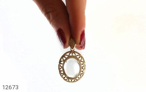 مدال دُر نجف زلال و ارزشمند طرح اشرافی زنانه - تصویر 6