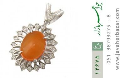 مدال عقیق یمن حکاکی شرف الشمس - کد 12675