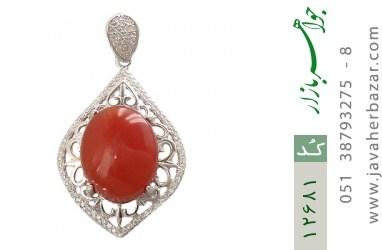 مدال عقیق یمن حکاکی شرف الشمس - کد 12681