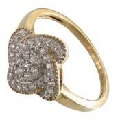 انگشتر نقره جواهرنشان طرح گلاره زنانه
