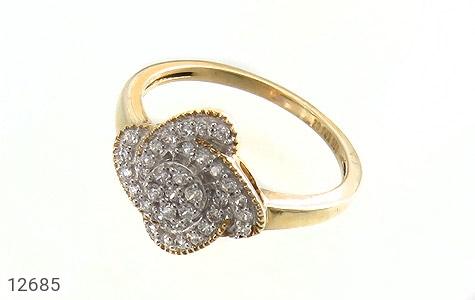انگشتر نقره جواهرنشان طرح گلاره زنانه - عکس 1