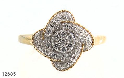 انگشتر نقره جواهرنشان طرح گلاره زنانه - تصویر 2