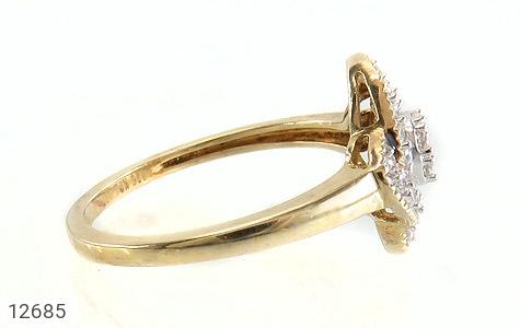 انگشتر نقره جواهرنشان طرح گلاره زنانه - عکس 3