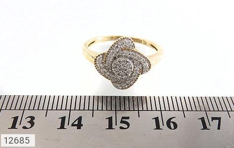 انگشتر نقره جواهرنشان طرح گلاره زنانه - تصویر 6