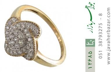 انگشتر نقره جواهرنشان طرح گلاره زنانه - کد 12685