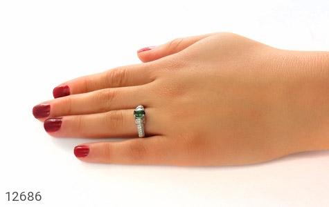 انگشتر تورمالین خوش رنگ طرح رینگی زنانه - تصویر 8