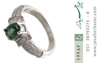 انگشتر تورمالین خوش رنگ طرح رینگی زنانه - کد 12686