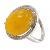 انگشتر عقیق زرد شرف الشمس درشت و اشرافی زنانه