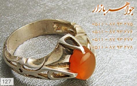 انگشتر عقیق یمن حکاکی شرف الشمس - تصویر 4