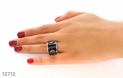 انگشتر عقیق سیاه طرح اسپرت ترک - تصویر 8