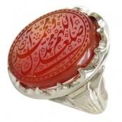 انگشتر عقیق یمن فاخر حکاکی صلوات استاد احمد مردانه کد 12714