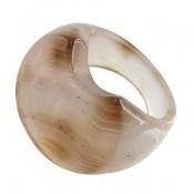 انگشتر عقیق حلقه سنگی درشت و خاص زنانه