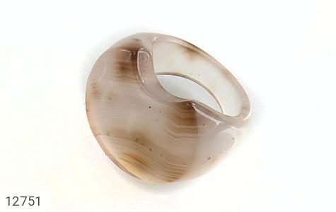انگشتر عقیق حلقه سنگی درشت و خاص زنانه - عکس 1