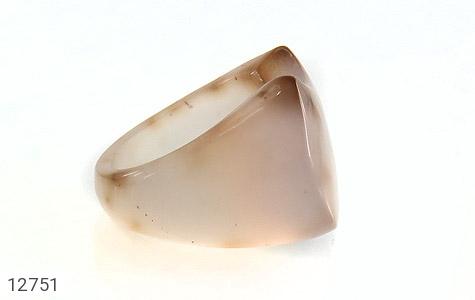 انگشتر عقیق حلقه سنگی درشت و خاص زنانه - عکس 3