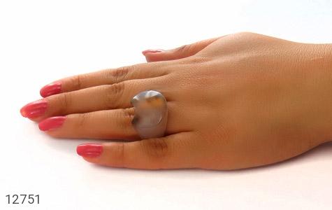 انگشتر عقیق حلقه سنگی درشت و خاص زنانه - عکس 7