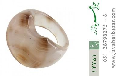 انگشتر عقیق حلقه سنگی درشت و خاص زنانه - کد 12751