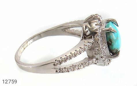 انگشتر فیروزه نیشابور زیبا طرح فرخنده زنانه - عکس 3