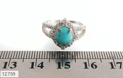 انگشتر فیروزه نیشابور زیبا طرح فرخنده زنانه - تصویر 6