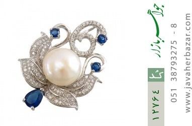 مدال مروارید مجلسی درشت و فاخر زنانه - کد 12764