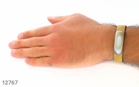 دستبند چرم و عقیق باباقوری جذاب طرح اسپرت - تصویر 8