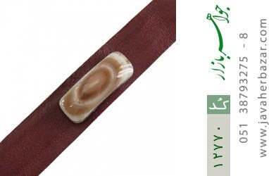 دستبند چرم و عقیق باباقوری خوش نقش اسپرت - کد 12770