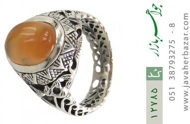 انگشتر عقیق یمن حکاکی شرف الشمس - کد 12785