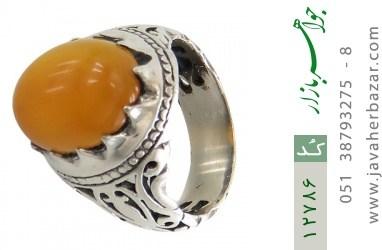 انگشتر عقیق حکاکی شرف الشمس - کد 12786