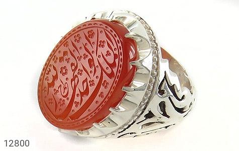 انگشتر عقیق یمن حکاکی الملک لله الواحد القهار استاد احمد رکاب دست ساز - عکس 1
