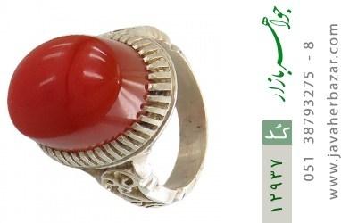 انگشتر عقیق یمن رکاب دست ساز - کد 12937