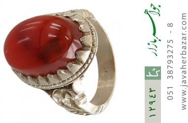 انگشتر عقیق سرخ یمنی برجسته و فاخر مردانه