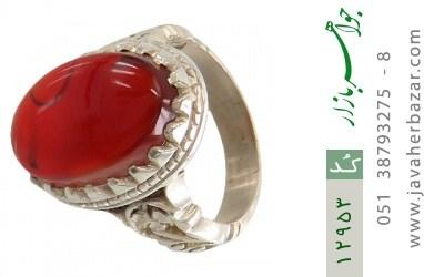 انگشتر عقیق یمن رکاب دست ساز - کد 12953