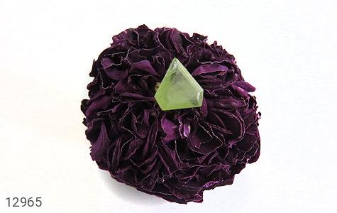 نگین تک زبرجد مثلثی خوش رنگ - عکس 5